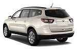 Rear three quarter view of a 2013 Chevrolet Traverse 1LT SUV