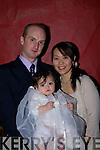 Eriko Satio Oita, Japan, and Thomas O'Connor, Ballyhahill who were married in Bali on August 30th 2007 and held a reception at Kirby's Lanterns Hotel Tarbert on Monday Dec 29th Pictured here with their daughter Aoife.