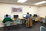Computer room of Ford Foundation-funded low-income housing in the Bronx, New York, NY