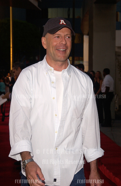 Actor BRUCE WILLIS at the world premiere, in Hollywood, of The Bourne Supremacy..July 15, 2004