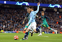 Manchester City's David Silva under pressure from Tottenham Hotspur's Kieran Trippier<br /> <br /> Photographer Rich Linley/CameraSport<br /> <br /> UEFA Champions League - Quarter-finals 2nd Leg - Manchester City v Tottenham Hotspur - Wednesday April 17th 2019 - The Etihad - Manchester<br />  <br /> World Copyright © 2018 CameraSport. All rights reserved. 43 Linden Ave. Countesthorpe. Leicester. England. LE8 5PG - Tel: +44 (0) 116 277 4147 - admin@camerasport.com - www.camerasport.com