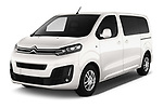 2017 Citroen Space Tourer Business 4 Door Passenger Van angular front stock photos of front three quarter view