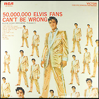 BNPS.co.uk (01202 558833)<br /> Pic: BNPS<br /> <br /> ****Must use full byline****<br /> <br /> Elvis on the front of his '50,000,000 Elvis Fans Can't Be Wrong' album wearing a similar version of the gold suit.<br /> <br /> A shimmering gold suit that has been owned by Elvis Presley and Elton John has emerged for &pound;17,900.<br /> <br /> The eye-catching outfit was created by famous clothing designer Nudie Cohn for the King himself in the 1950s.<br /> <br /> The lame suit, which is embellished with silver rhinestones, would have cost around &pound;3,000.<br /> <br /> Elvis had more than one of the flashy costumes made and he is pictured on the front of his '50,000,000 Elvis Fans Can't Be Wrong' album wearing a similar version.<br /> <br /> Experts believe that Elton John met Elvis backstage after the show and that after expressing his admiration for the sparkling outfit, Elvis gave it to him.<br /> <br /> He sold the costume, which has been embroidered with a tag reading 'Elvis Presley', to a private collector who has now put it up for sale through Julien's Auctions in New York.