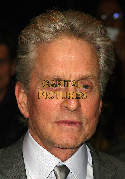 MICHAEL DOUGLAS .The New York City premiere of 'Solitary Man' at Cinema 2,  New York, NY, USA, 11th May 2010..arrivals portrait headshot grey gray tie white shirt .CAP/ADM/PZ.©Paul Zimmerman/AdMedia/Capital Pictures.