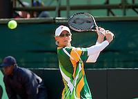 08-07-11, Tennis, South-Afrika, Potchefstroom, Daviscup South-Afrika vs Netherlands, Rik de Voest
