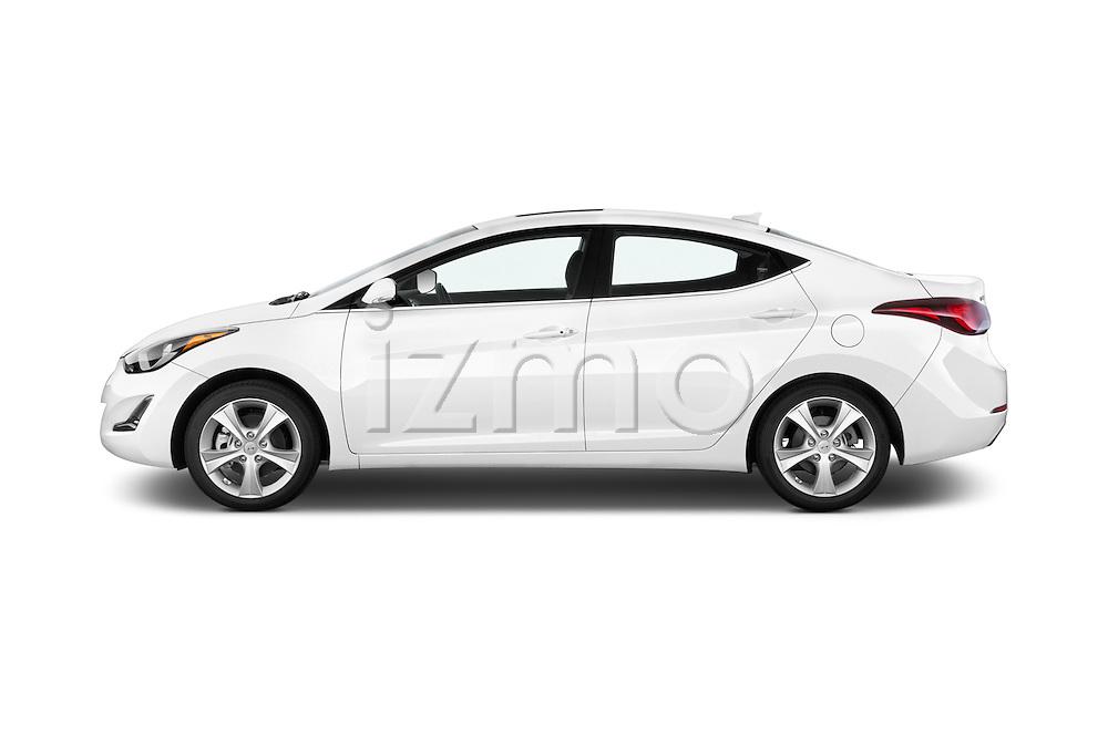 Car Driver side profile view of a 2016 Hyundai Elantra Value Edition 4 Door Sedan Side View
