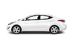 Car Driver side profile view of a 2016 Hyundai Elantra Value Edition 4 Door Sedan Side View