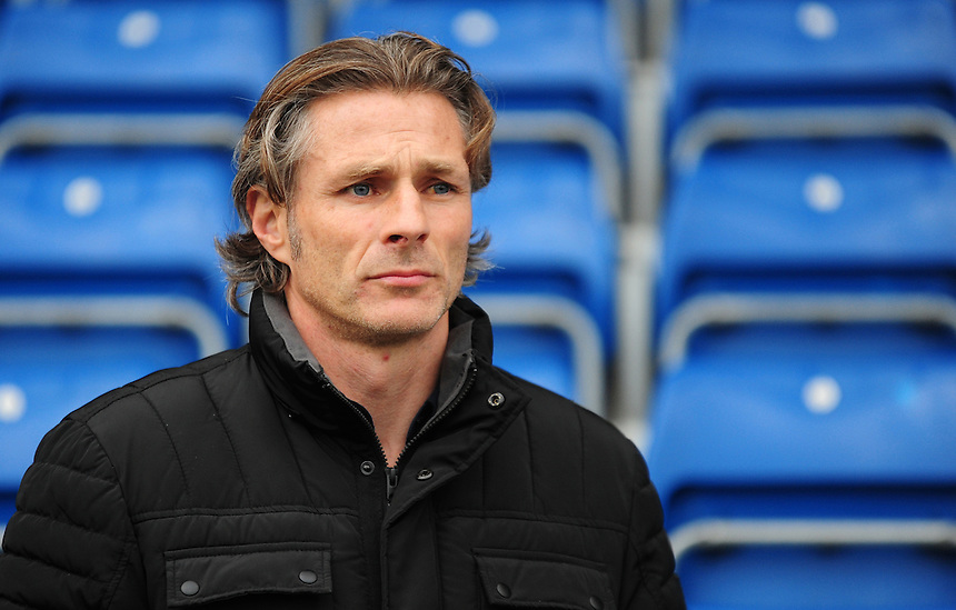 Wycombe Wanderers manager Gareth Ainsworth during the pre-match warm-up <br /> <br /> Photographer Andrew Vaughan/CameraSport<br /> <br /> The Emirates FA Cup Second Round - Chesterfield v Wycombe Wanderers - Saturday 3rd December 2016 - Proact Stadium - Chesterfield<br />  <br /> World Copyright &copy; 2016 CameraSport. All rights reserved. 43 Linden Ave. Countesthorpe. Leicester. England. LE8 5PG - Tel: +44 (0) 116 277 4147 - admin@camerasport.com - www.camerasport.com