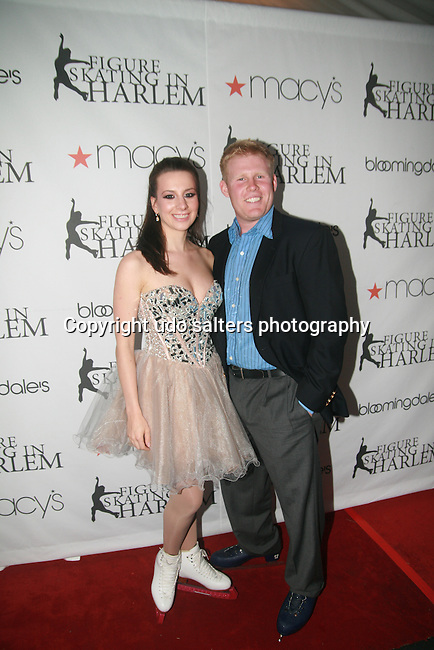 Sarah Hughes and Andrew Giuliani attend The 2011 Figure Skating in Harlem - Skating with the Stars Honoring Tina and Terry Lundgren, Sarah Hughes and Lola C. West at the Wollman Rink, NY 4/4/11