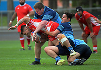 Action from the Horowhenua-Kapiti premier club rugby union match between Levin College Old Boys and Toa at Levin Domain in Levin, New Zealand on Saturday, 27 April 2019. Photo: Dave Lintott / lintottphoto.co.nz