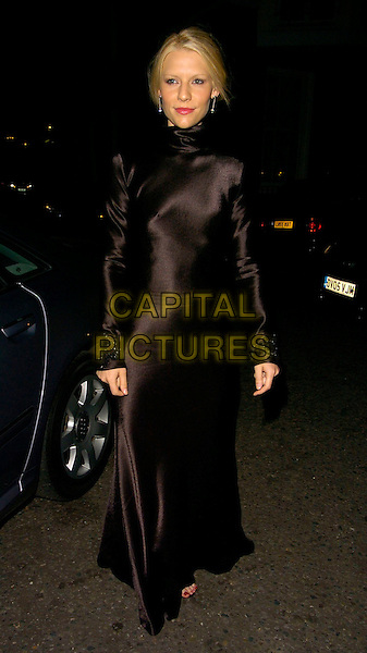 CLAIRE DANES.The Ralph Lauren Wimbledon Championships Dinner, Spencer House, London, UK..June 21st, 2006.Ref: CAN.full length black satin dress gown high collar long sleeves.www.capitalpictures.com.sales@capitalpictures.com.©Capital Pictures