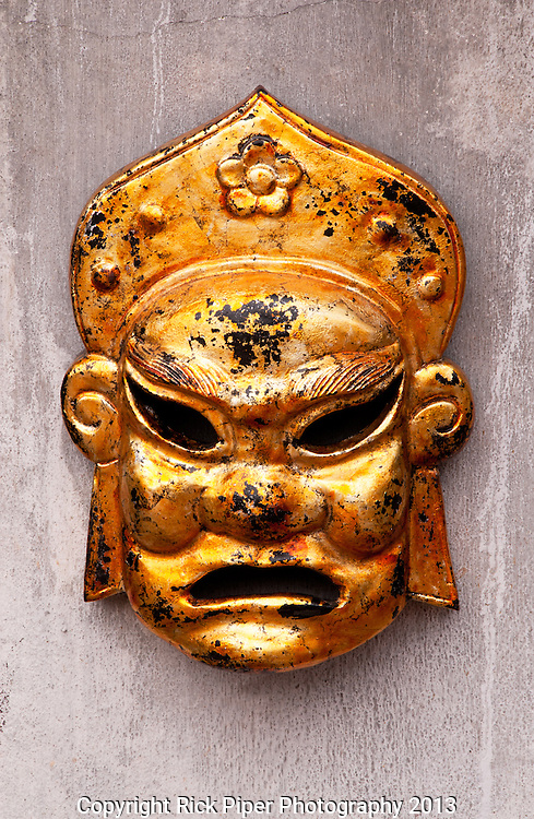 Gold Mask - Gold mask, Temple of Literature, Hanoi, Viet Nam