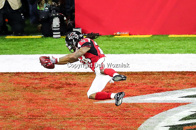 Atlanta Falcons running back Devonta Freeman (24) in action during Super Bowl LI at the NRG Stadium in Houston, Texas.