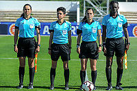20200307  Lagos , Portugal : the referees pictured before the female football game between the national teams of Sweden and Denmark on the second matchday of the Algarve Cup 2020 , a prestigious friendly womensoccer tournament in Portugal , on saturday 7 th March 2020 in Lagos , Portugal . PHOTO SPORTPIX.BE | STIJN AUDOOREN