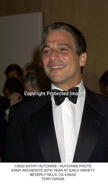 ©2002 KATHY HUTCHINS / HUTCHINS PHOTO.ARMY ARCHERD'S 50TH YEAR AT DAILY VARIETY.BEVERLY HILLS, CA 4/26/02.TONY DANZA