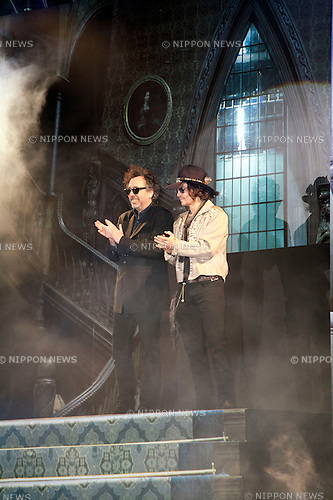 "April 12, 2012, Tokyo, Japan - Johnny Depp and Tim Burton at Roppongi Hills for the Japan Premier of ""Dark Shadows"". ""Dark Shadows"" starts showing in Japan on May 19, 2012..."