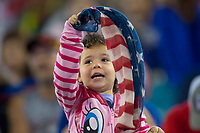 Jacksonville, FL - Thursday, April 05, 2018:  Fan during a friendly match between USA and Mexico at EverBank Stadium.  USA defeated Mexico 4-1.