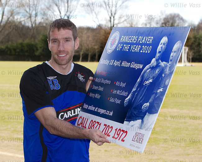Kirk Broadfoot promotes the Rangers Player of the Year dinner