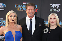 "HOLLYWOOD, CA - April 19: Taylor Ann Hasselhoff, David Hasselhoff, Hayley Hasselhoff, At Premiere Of Disney And Marvel's ""Guardians Of The Galaxy Vol. 2"" At The Dolby Theatre  In California on April 19, 2017. Credit: FS/MediaPunch"