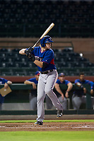 AZL Rangers designated hitter Sam Huff (12) at bat against the AZL Giants on September 4, 2017 at Scottsdale Stadium in Scottsdale, Arizona. AZL Giants defeated the AZL Rangers 6-5 to advance to the Arizona League Championship Series. (Zachary Lucy/Four Seam Images)