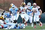 24 November 2012: Maryland's Brandon Ross (45). The University of North Carolina Tar Heels played the University of Maryland Terrapins at Kenan Memorial Stadium in Chapel Hill, North Carolina in a 2012 NCAA Division I Football game. UNC won 45-38.