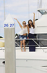Kristen Alderson & Lindsey Morgan take a break on Blondi, Marco Island at SoapFest's Celebrity Weekend - Cruisin' and Schmoozin' on the Marco Island Princess - mix and mingle and watching dolphins - autographs, photos, live auction raising money for kids on November 11, 2012 Marco Island, Florida. (Photo by Sue Coflin/Max Photos)