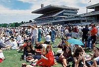 Racegoers at Melbourne Cup Races at Victoria Racing Club, Australia