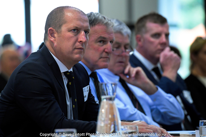 WRFU chief executive Matt Evans. The 2019 New Zealand Rugby Annual General Meeting at the New Zealand Rugby House in Wellington, New Zealand on Wednesday, 17 April 2019. Photo: Dave Lintott / lintottphoto.co.nz