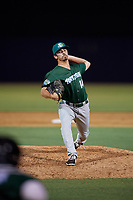 Daytona Tortugas relief pitcher Andy Cox (14) during a Florida State League game against the Tampa Tarpons on May 17, 2019 at George M. Steinbrenner Field in Tampa, Florida.  Daytona defeated Tampa 8-6.  (Mike Janes/Four Seam Images)