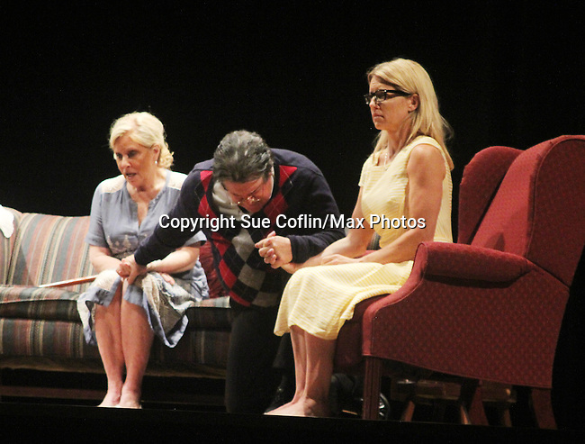 "Guiding Light's Cynthia Watros and Tina Sloan star with Michael O'Leary author of ""Breathing Under Dirt"" - full play - had its world premier on August 13 and 14, 2016 at the Ella Fitzgerald Performing Arts Center, University of Maryland Eastern Shore, Princess Anne, Maryland  (Photo by Sue Coflin/Max Photos)"