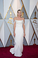 Oscar&reg; nominee for Best Actress, Margot Robbie arrives on the red carpet of The 90th Oscars&reg; at the Dolby&reg; Theatre in Hollywood, CA on Sunday, March 4, 2018.<br /> *Editorial Use Only*<br /> CAP/PLF/AMPAS<br /> Supplied by Capital Pictures