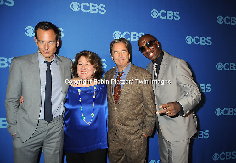cast of The Millers, Will Arnett, Margo Matindale, Beau Bridges and JB Smoove, attends the CBS Prime Time 2013 Upfront on May 15, 2013 at Lincoln Center in New York City.