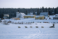 Ramy Brooks Arrives in White Mountain Alaska<br /> 2004 Iditarod