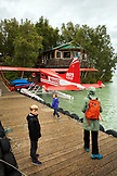 USA, Alaska, Redoubt Bay, Big River Lake, arriving on the float plane to Redoubt Bay Lodge