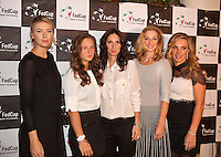 Moskou, Russia, Februari 4, 2016,  Fed Cup Russia-Netherlands,  Official Dinner, Russian team  left Maria Sharapova<br /> Photo: Tennisimages/Henk Koster