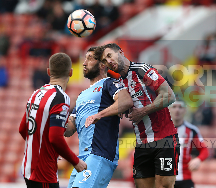 Jake Wright of Sheffield Utd  during the Emirates FA Cup Round One match at Bramall Lane Stadium, Sheffield. Picture date: November 6th, 2016. Pic Simon Bellis/Sportimage