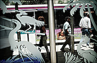 "People, birds<br /> From ""Color Blind"" series. Miami, 2008"
