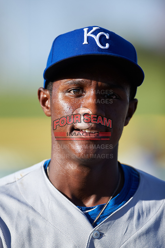 AZL Royals Tyler Tolbert (14) before an Arizona League game against the AZL Cubs 1 on June 30, 2019 at Sloan Park in Mesa, Arizona. AZL Royals defeated the AZL Cubs 1 9-5. (Zachary Lucy / Four Seam Images)