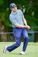 Russell Knox (IRL) watches his tee shot on 5 during Friday's round 2 of the PGA Championship at the Quail Hollow Club in Charlotte, North Carolina. 8/11/2017.<br /> Picture: Golffile | Ken Murray<br /> <br /> <br /> All photo usage must carry mandatory copyright credit (&copy; Golffile | Ken Murray)