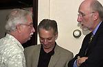 John Cornell, Jeff Schamberry and Jim Dooley seen at John Cornell's retirement party  on October 10, 2000. Photo by Jim Peppler. Copyright/Jim Peppler-2000