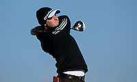 Sam Hutsby of England tees off during Round 2 of the 2015 Alfred Dunhill Links Championship at the Old Course, St Andrews, in Fife, Scotland on 2/10/15.<br /> Picture: Richard Martin-Roberts | Golffile