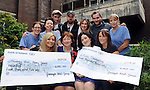 Following on from the series of Pop up concerts &amp; Comedy which took place in the INEC Killarney On June 27th &amp; 28th  Walking on Cars have presented two local charities with a cheque for &euro;4000.00 each - The Oncology Unit in Kerry General Hospital and Cuan Counselling.Cuan Counselling is a non-profit, low cost, accessible and professional counselling and therapy service for young people aged 12-25years and their families in West Kerry.  The Oncology Unit at Kerry General Hospital provides treatment and care for patients suffering from cancer. The spontaneous two-day Pop Up festival was organised in just three days and featured performances by Walking on Cars, Mundy, Damien Dempsey, Mick Flannery, Penrose, Moxie, Lisa Seavers, The Little Hours, and The Booka Brass Band along with comedians Jason Byrne, Karl Spain, Barry Murphy and Apr&eacute;s Match.Speaking after the weekend a spokesperson for Walking on Cars said &ldquo;It was great to see everybody out to support the community, we would like to thank everybody for offering their help and time to make the whole thing possible.&rdquo;<br /> Photo shows front from left, Fiona O&rsquo;Connor &ndash; Entertainment Manager, INEC presenting a cheque for &euro;4,000 to Mairead O'Connor of the Oncology Dept, Tralee General Hospital and Siobhan Donnelly &ndash; Group Marketing Manager, INEC presenting Marion O'Donnell of Cuan Counselling, West Kerry.  At back are members of 'Walking on Cars, Pa Sheehy, Dan Devane, Sorcha Durham and Evan Hadnett with nurses Michelle O'Dowd Mary Fitzgerald and Theresa Walsh.<br /> Photo: Don MacMonagle<br /> <br /> Repro free photo