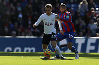 Christian Eriksen of Tottenham Hotspur and Jaïro Riedewald of Crystal Palace during Crystal Palace vs Tottenham Hotspur, Premier League Football at Selhurst Park on 25th February 2018
