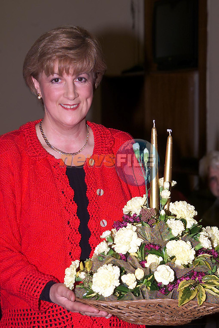Theresa McEneaney from Ardee at the ICA Flower Arranging in the Ardee Day Care Centre..Picture Paul Mohan Newsfile