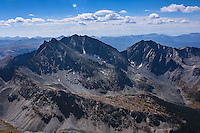 The Three Apostles rise in the Sawatch Range in central Colorado. The tallest of the group tops out at 13, 958 feet. This shot was taken from the summit of nearby 14,003 ft Huron Peak.