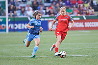 Portland, OR - Saturday June 17, 2017: Mckenzie Meehan, Lindsey Horan during a regular season National Women's Soccer League (NWSL) match between the Portland Thorns FC and Sky Blue FC at Providence Park.