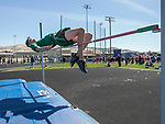 Manogue's Thomas Gassner competes in the boys high jump during the Reed Sparks Rotary Invitational track and field event at Reed High School in Sparks, Saturday, April 1, 2017.