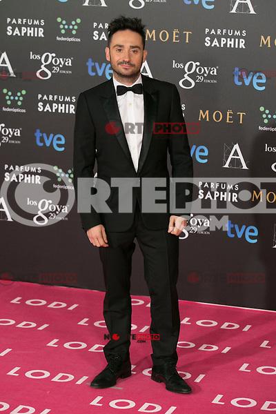 Juan Antonio Bayona attend the 2015 Goya Awards at Auditorium Hotel, Madrid,  Spain. February 07, 2015.(ALTERPHOTOS/)Carlos Dafonte) /NORTEphoto.com