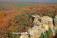 63895-07416 Camel Rock at Garden of the Gods in fall Shawnee National Forest   IL