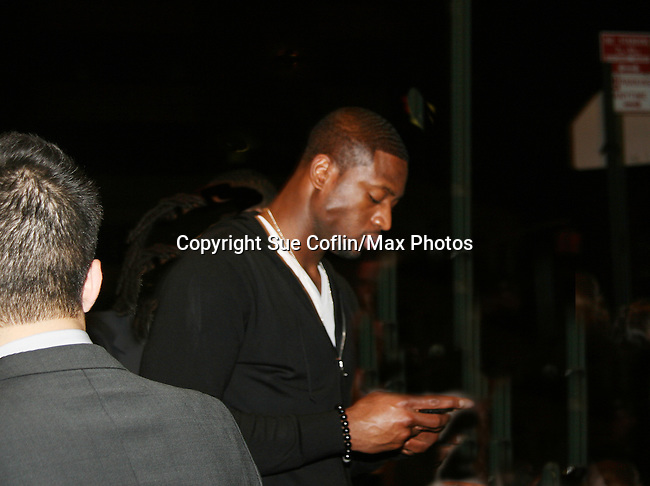 Miami Heat basketball player attends the premere of Just Wright on May 4, 2010 at the Ziegfield Theatre with the after party at The Empire Hotel, New York City, New York. (Photo by Sue Coflin/Max Photos)